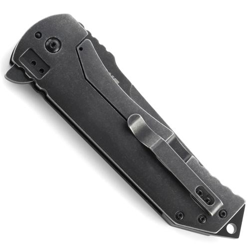 Фото 2 - Складной нож Ruger® Knives Robert Carter Design 2-Stage™ Compact Flipper, Blackwashed Plain Blade, Aluminum & Stainless Steel Handle от CRKT