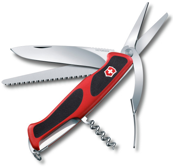 Нож перочинный Victorinox RangerGrip 71 Gardener 0.9713.C 130мм 7 функций красно-чёрныйШвейцарские армейские ножи Victorinox<br>Модель RangerGrip 71 Gardener 0.9713.C Цвет корпуса красный/черный Размеры 31x130x28 мм<br>