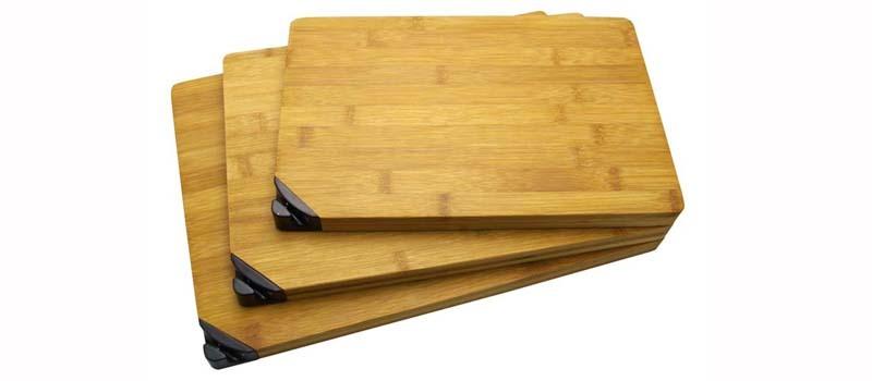 Средняя разделочная доска из бамбука, с точилкойViking Nordway<br>Размеры<br>330х230х20<br>