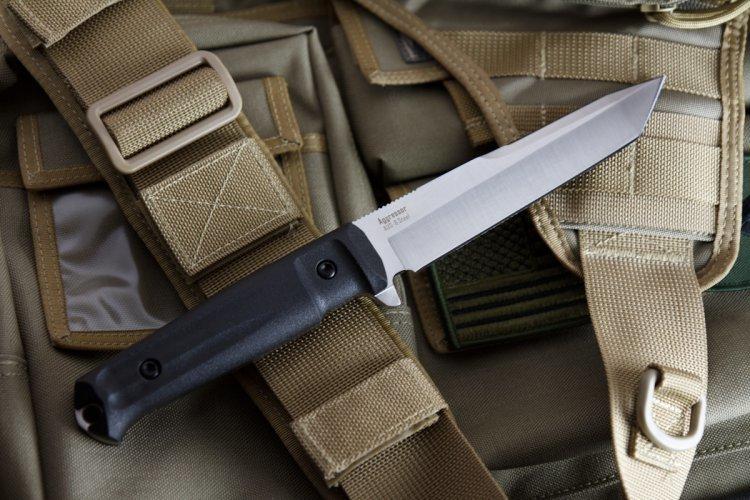 Фото 2 - Тактический нож Aggressor AUS-8 Satin+SW, Kizlyar Supreme