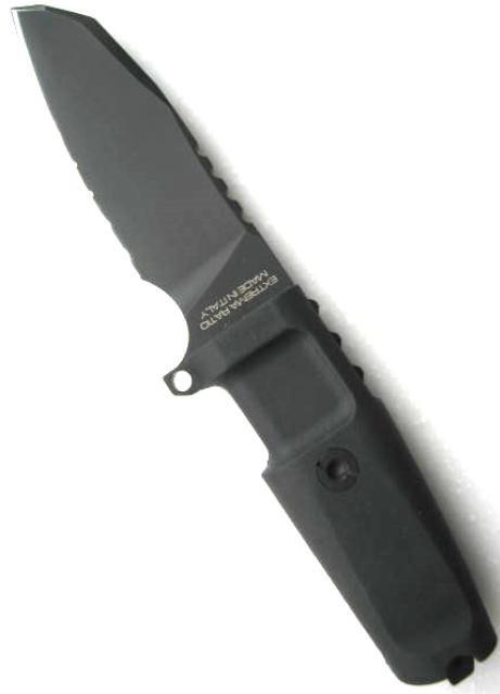 Фото 3 - Нож с фиксированным клинком Extrema Ratio Task Compact Black 1/2 Serrated, сталь Bhler N690, рукоять прорезиненный форпрен