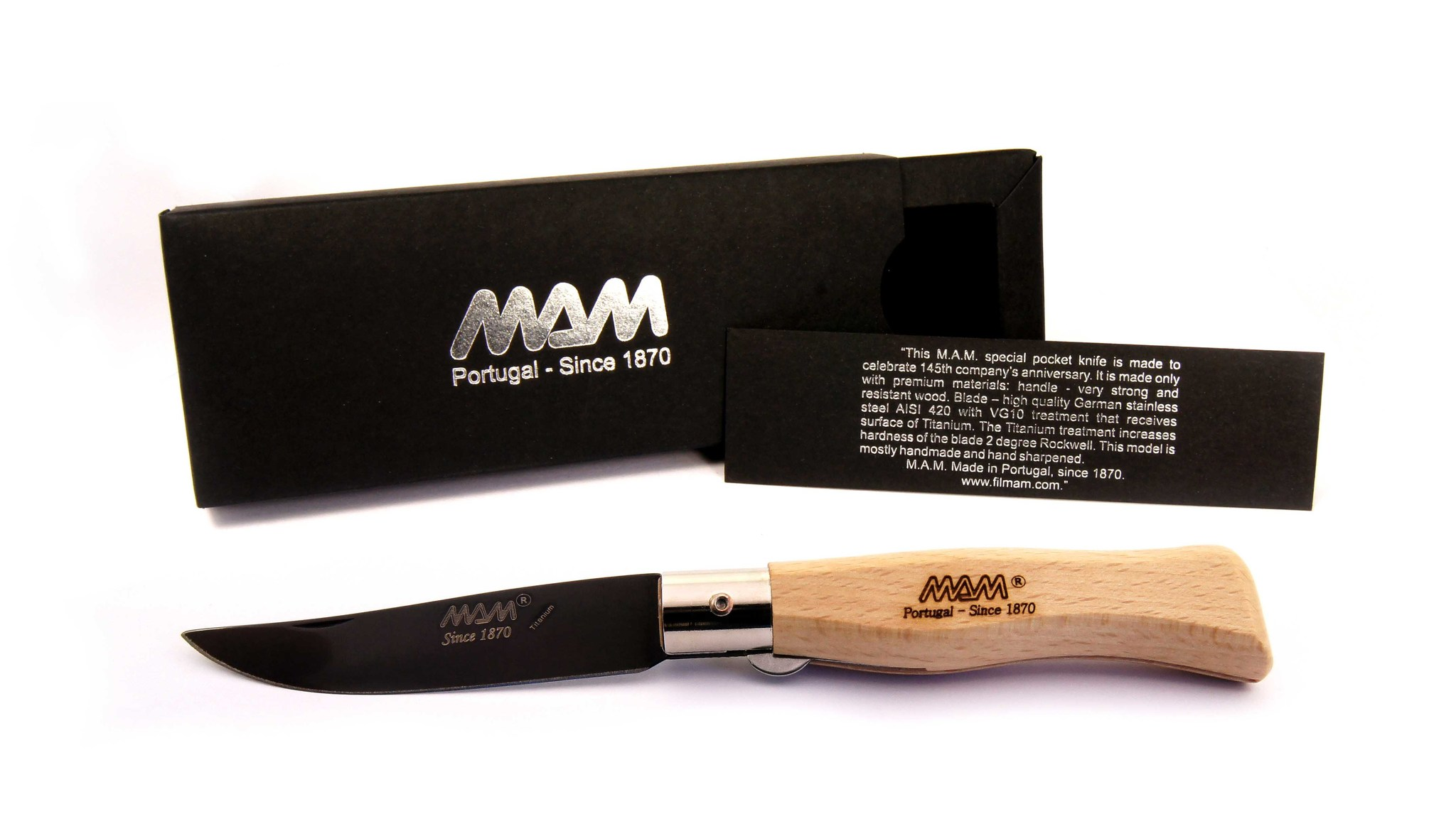 Фото - Нож MAM Douro 2009-Р ручка бук, цвет клинка черный