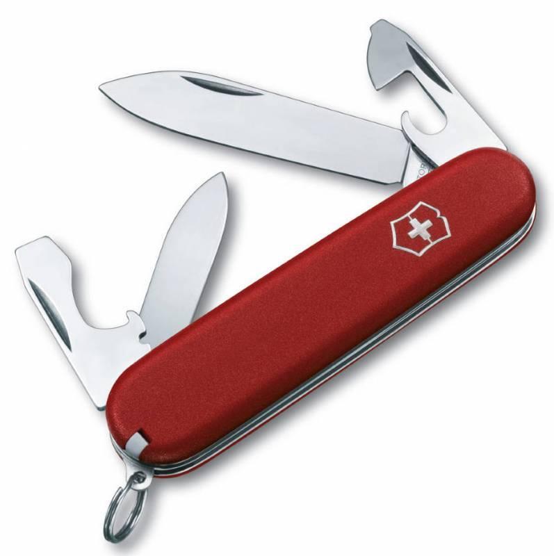 Нож перочинный Victorinox Ecoline 2.2503 84мм 10 функций матовый красныйШвейцарские армейские ножи Victorinox<br>Карманный нож ECOLINE - это многофункциональный инструмент с набором из 10 функций: <br>Большое лезвие<br>Малое лезвие<br>Консервный нож с:<br>- Малой отверткой<br>Открывалка для бутылок с:<br>- Отверткой<br>- Инструментом для снятия изоляции<br>Кольцо для ключей<br>Пинцет<br>Зубочистка<br>Длина: 84 мм<br>Цвет: Матовый красный<br>
