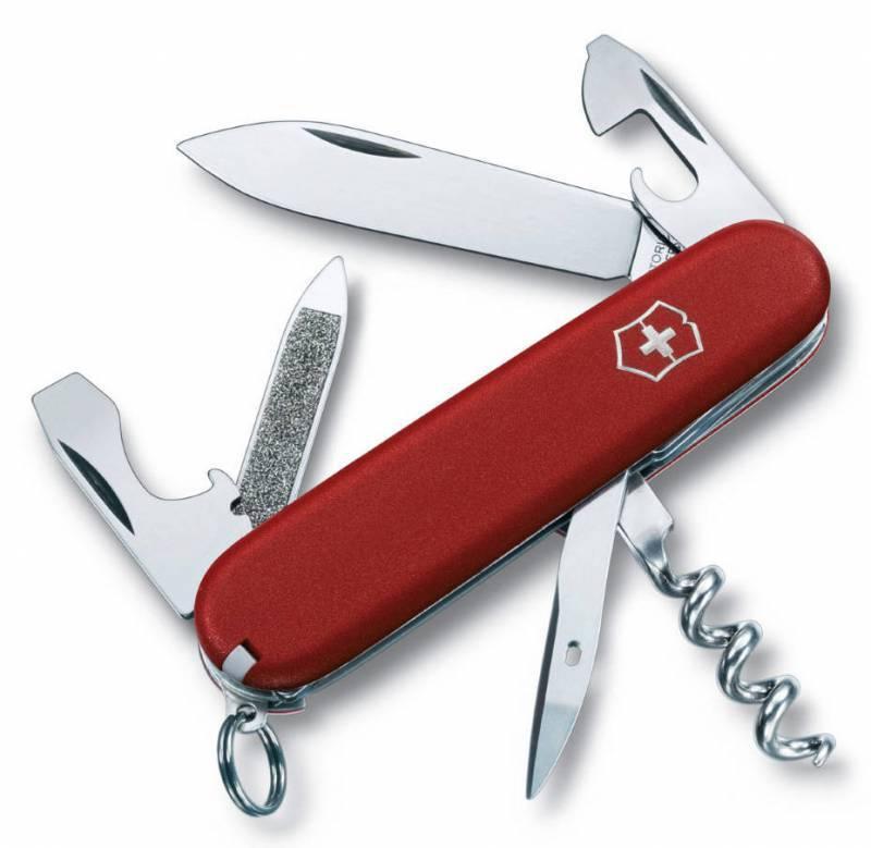 Нож перочинный Victorinox Ecoline 2.3803 84мм 13 функций матовый красныйШвейцарские армейские ножи Victorinox<br>Карманный нож ECOLINE - это многофункциональный инструмент с набором из 13 функций: <br>Большое лезвие<br>Пилка для ногтей с:<br>- Инструментом для чистки ногтей<br>Штопор<br>Консервный нож с:<br>- Малой отверткой<br>Открывалка для бутылок с:<br>- Отверткой<br>- Инструментом для снятия изоляции<br>Кольцо для ключей<br>Шило, кернер<br>Пинцет<br>Зубочистка<br>Длина: 84 мм<br>Цвет: Матовый красный<br>