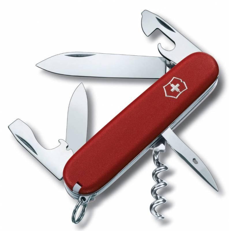 Нож перочинный Victorinox Ecoline 3.3603 91мм 12 функций матовый красныйШвейцарские армейские ножи Victorinox<br>Карманный нож ECOLINE - это многофункциональный инструмент с набором из 12 функций: <br>Большое лезвие<br>Малое лезвие<br>Штопор<br>Консервный нож с:<br>- Малой отверткой<br>Открывалка для бутылок с:<br>- Отверткой<br>- Инструментом для снятия изоляции<br>Шило, кернер<br>Кольцо для ключей<br>Пинцет<br>Зубочистка<br>Длина: 91 мм<br>Цвет: Матовый красный<br>