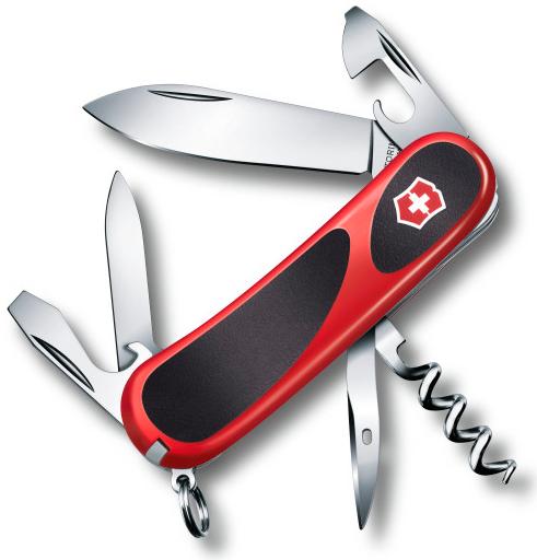 Нож перочинный Victorinox EvoGrip 10 2.3803.C 85мм 13 функций красно-чёрный нож victorinox vx24913 c victorinox evogrip 18 vx24913 c