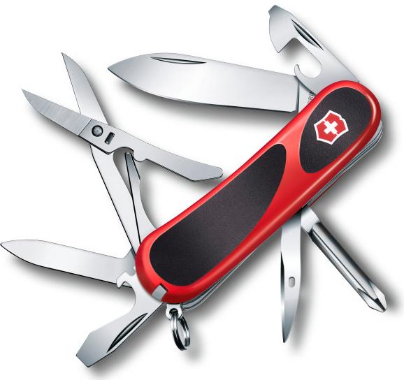 Нож перочинный Victorinox EvoGrip 16 2.4903.C 85мм 14 функций красно-чёрный нож victorinox vx24913 c victorinox evogrip 18 vx24913 c