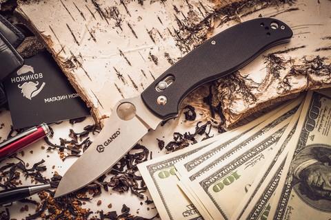 Складной нож Ganzo G733, черный - Nozhikov.ru