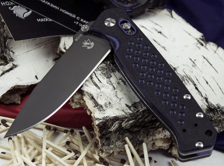 Фото 3 - Складной нож Хират, синий от Steelclaw