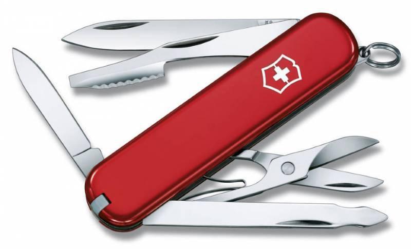 Нож перочинный Victorinox Executive 0.6603 74мм 10 функций красныйШвейцарские армейские ножи Victorinox<br>Серия Элегантные карманные инструменты<br><br>Карманный нож Executive - это многофункциональный инструмент с набором из 10 функций: <br>Лезвие<br>Малое лезвие<br>Пилка для ногтей с: <br>- Инструментом для ухода за ногтями<br>Ножницы<br>Пинцет<br>Кольцо для ключей<br>Зубочистка<br>Нож для чистки апельсин с:<br>- Отверткой<br>Длина: 74 мм<br>