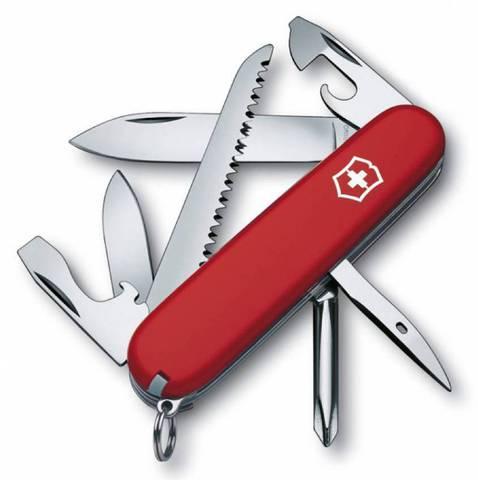 Нож перочинный Victorinox Hiker 1.4613 91мм 13 функций красный - Nozhikov.ru