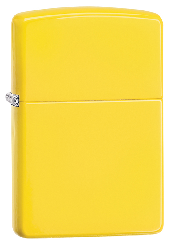 Зажигалка ZIPPO Classic с покрытием Lemon™, латунь/сталь, жёлтая, матовая, 36x12x56 ммЗажигалки ZIPPO<br>Зажигалка ZIPPO Classic с покрытием Lemon™, латунь/сталь, жёлтая, матовая, 36x12x56 мм<br>