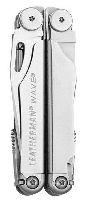 Подарочный набор инструментов Leatherman Wave (831878) серебристый компл.:мультитул/удлинитель/чехол кожаный