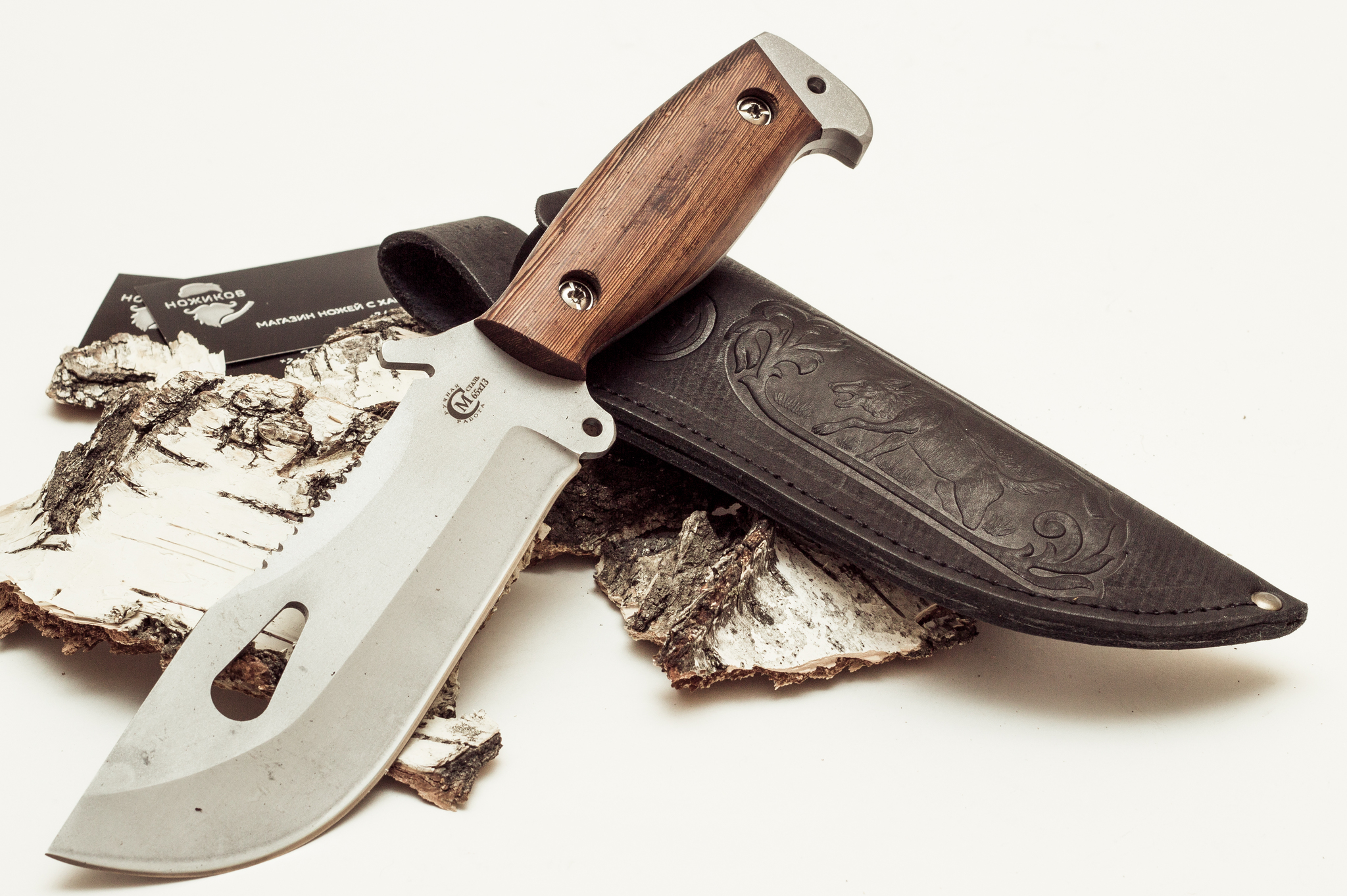 Фото 9 - Нож для выживания «Воин», из нержавеющей стали 65х13 от Кузница Семина
