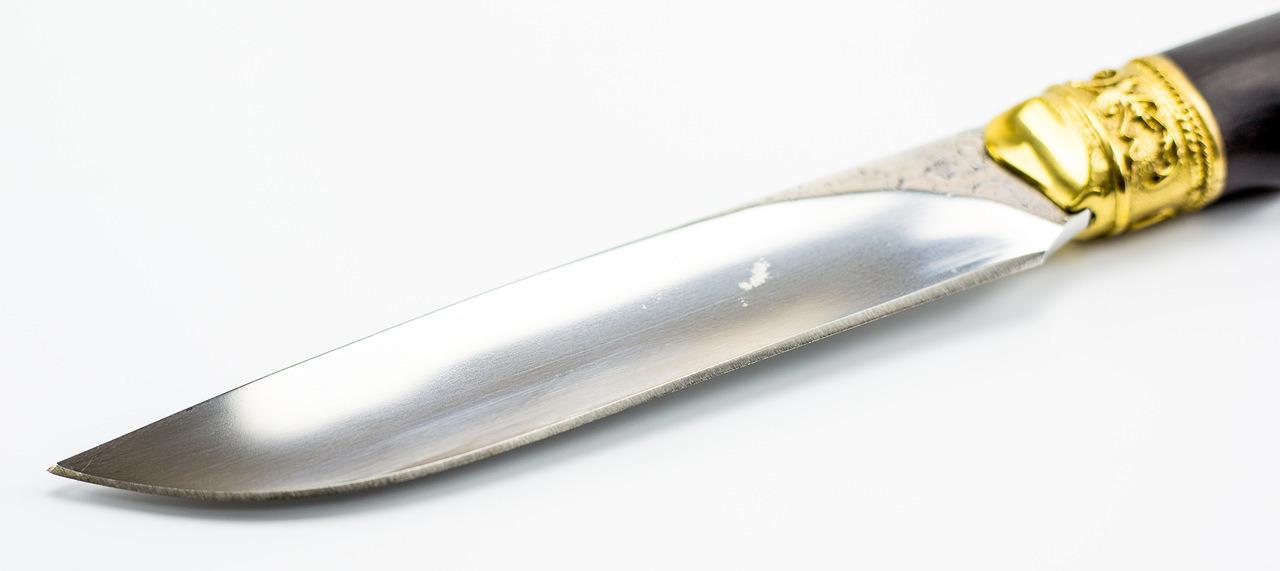 Фото 2 - Кованый нож Беркут с латунной гардой и навершием, Х12МФ от Кизляр