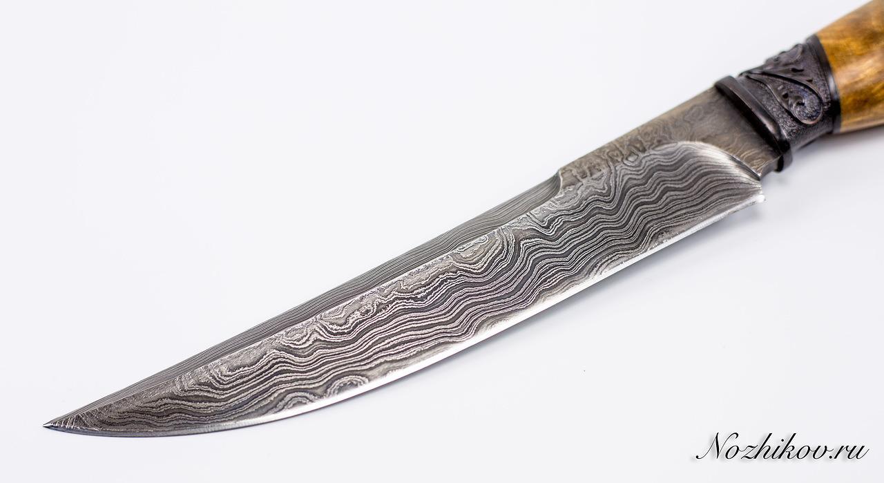 Фото 5 - Авторский Нож из Дамаска №43, Кизляр от Noname