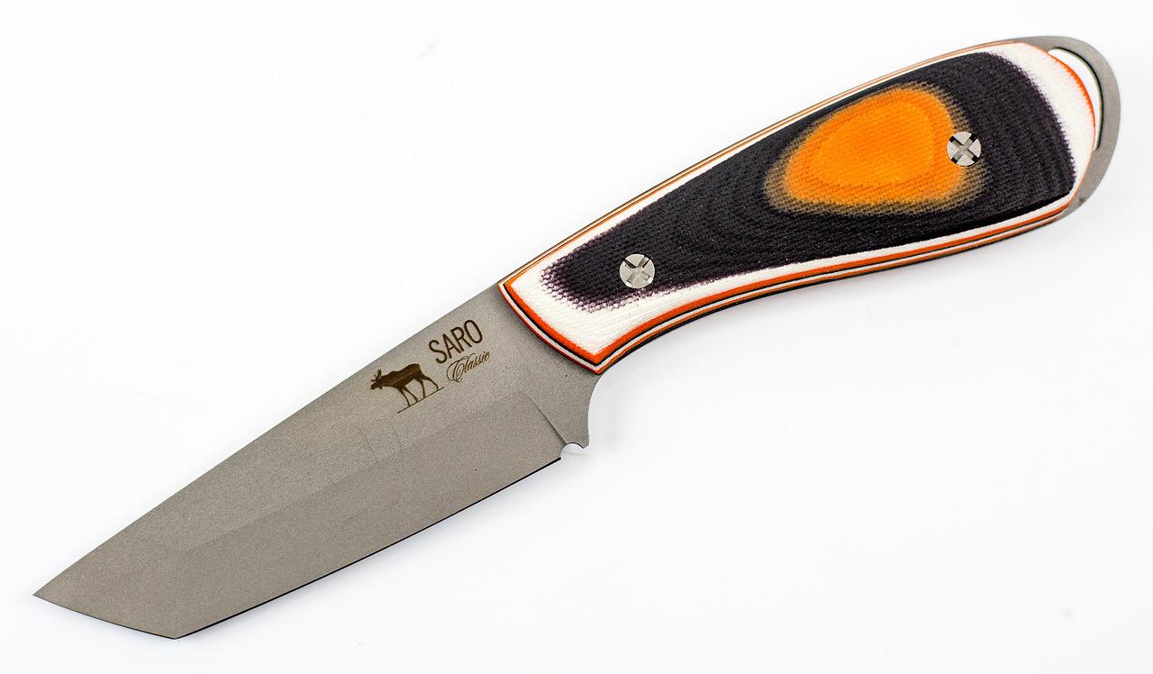 Нож «Лис Танто»Ножи Ворсма<br>Сталь: Нержавеющая сталь K110Материал рукояти: G10Общая длина: 205±15Длина клинка: 108±10Толщина обуха: 2,4±1,0<br>