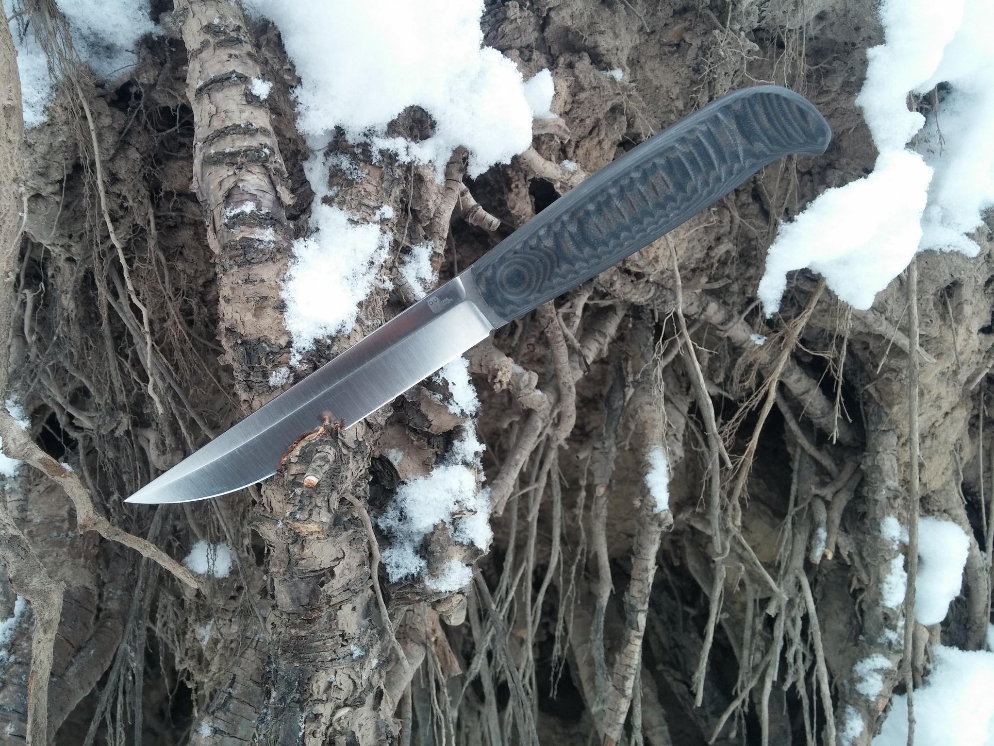 Фото 3 - Финка с грибком и каплей North, N690 от Owl Knife