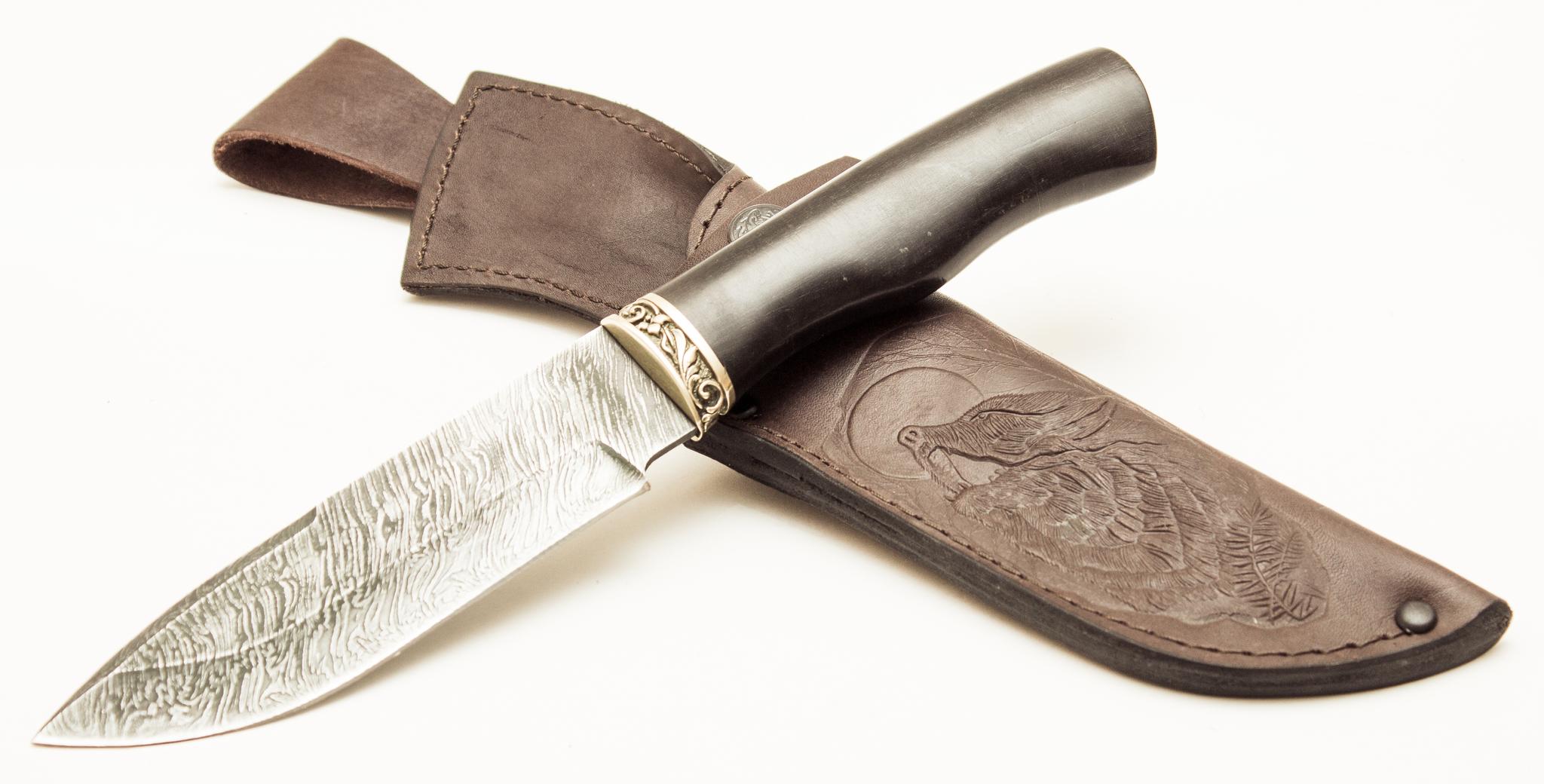 Фото 2 - Нож Бекзод, дамасская сталь от Павловские ножи
