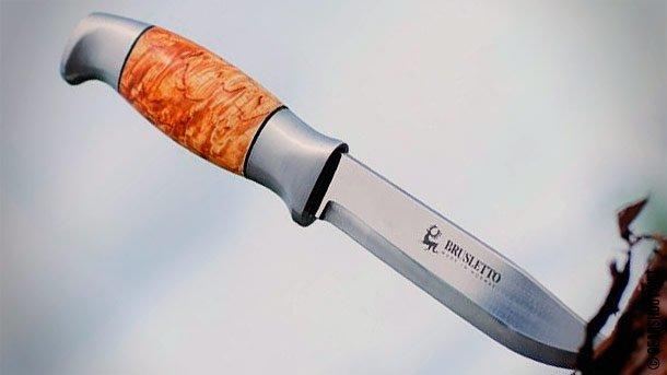 Нож с фиксированным клинком Brusletto Bamsen (Медведь) BR/11402NSandvik™ 12С27<br>Нож с фиксированным клинком Brusletto Bamsen (Медведь) BR/11402N<br>