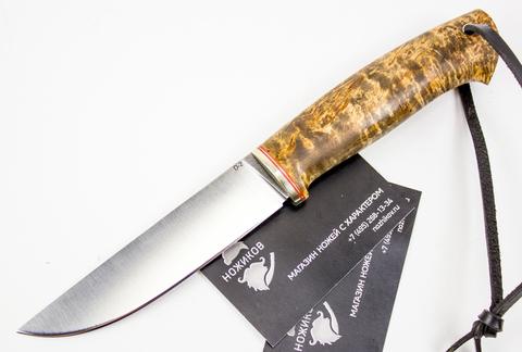 Нож Лиман, сталь D2, карельская береза - Nozhikov.ru