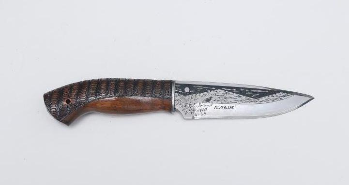 Нож Клык, Кизляр СТО, сталь 65х13, резной