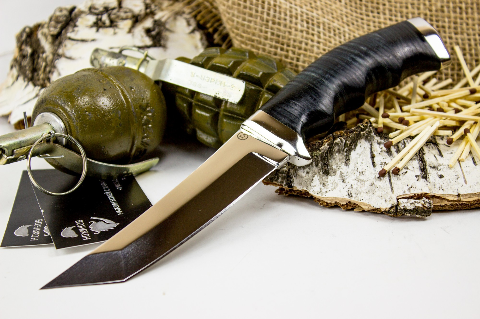 Фото 2 - Нож Аркан, сталь 95х18, кожа от Титов и Солдатова