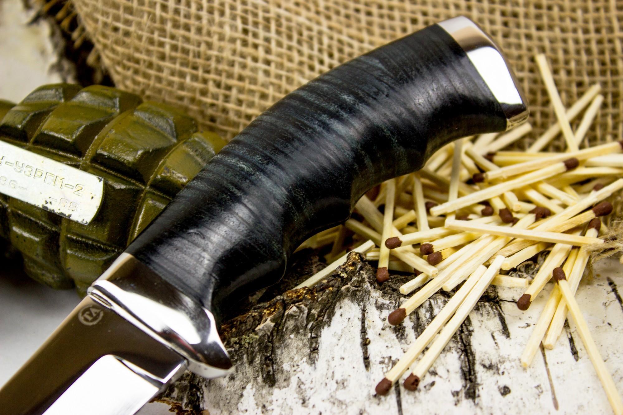 "Нож Аркан, сталь 95х18, кожа от Магазин ножей ""Ножиков"""