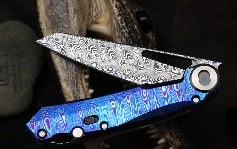 Фото 7 - Складной нож CKF Terra, дамасская сталь, рукоять Timaskus