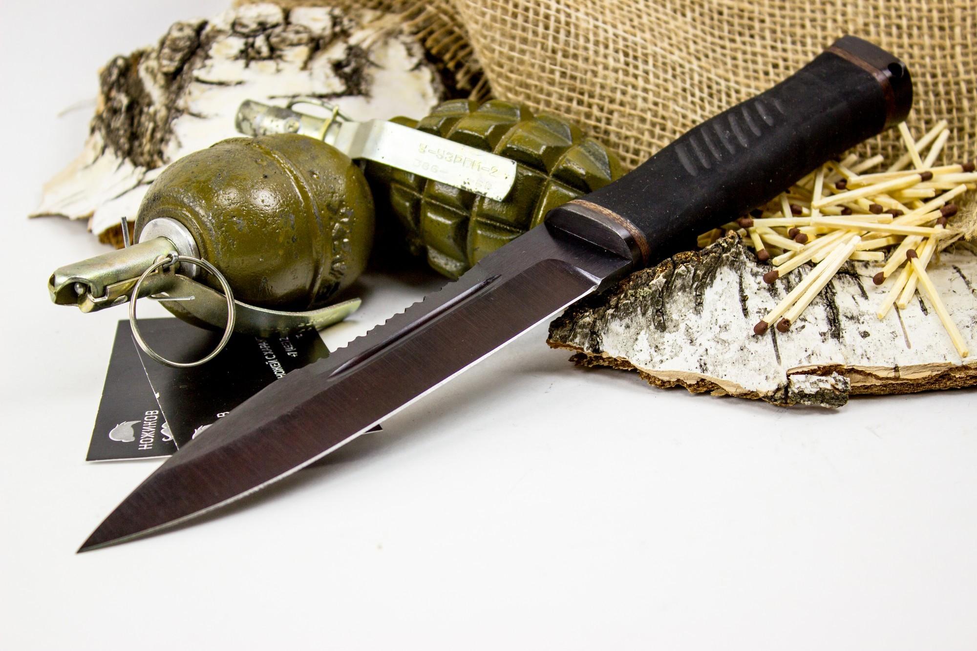 Фото 2 - Нож Казак-2, сталь 65Г, резина от Титов и Солдатова