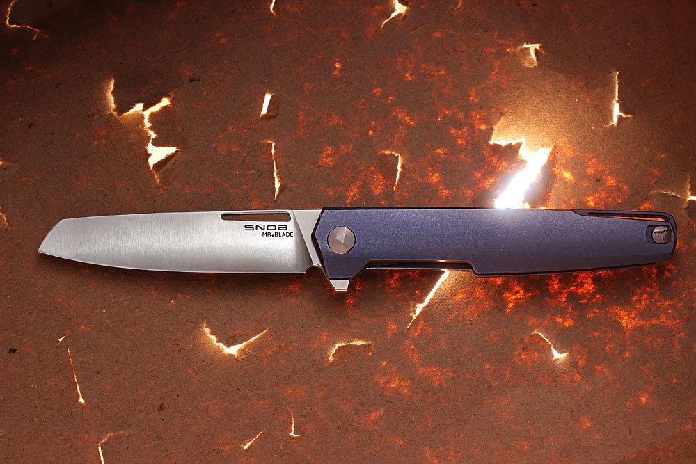 Складной нож Snob M390/TitaniumРаскладные ножи<br>Топовой нож из порошковой стали M390 и с титановой рукоятью!<br>