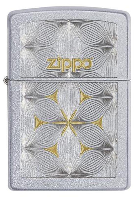 Зажигалка ZIPPO Classic с покрытием Satin Chrome™, латунь/сталь, серебро матовое, 36x12x56 мм zippo зажигалку в архангельске
