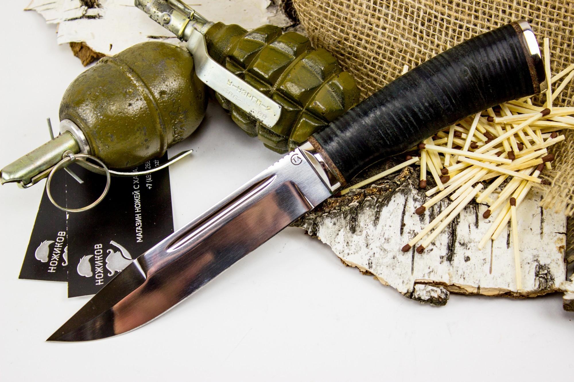 Нож Русич, сталь 95х18, кожа от Титов и Солдатова