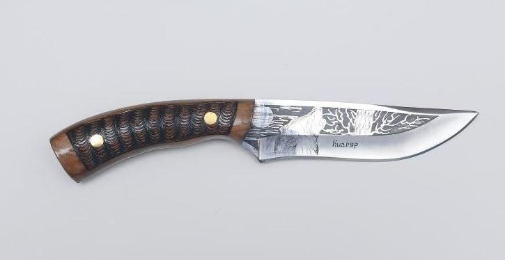 Нож Кавказ, Кизляр СТО, сталь 65х13, резной