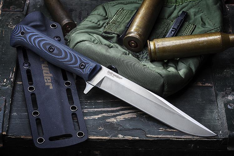 Фото 2 - Тактический нож Intruder D2 Satin, Kizlyar Supreme