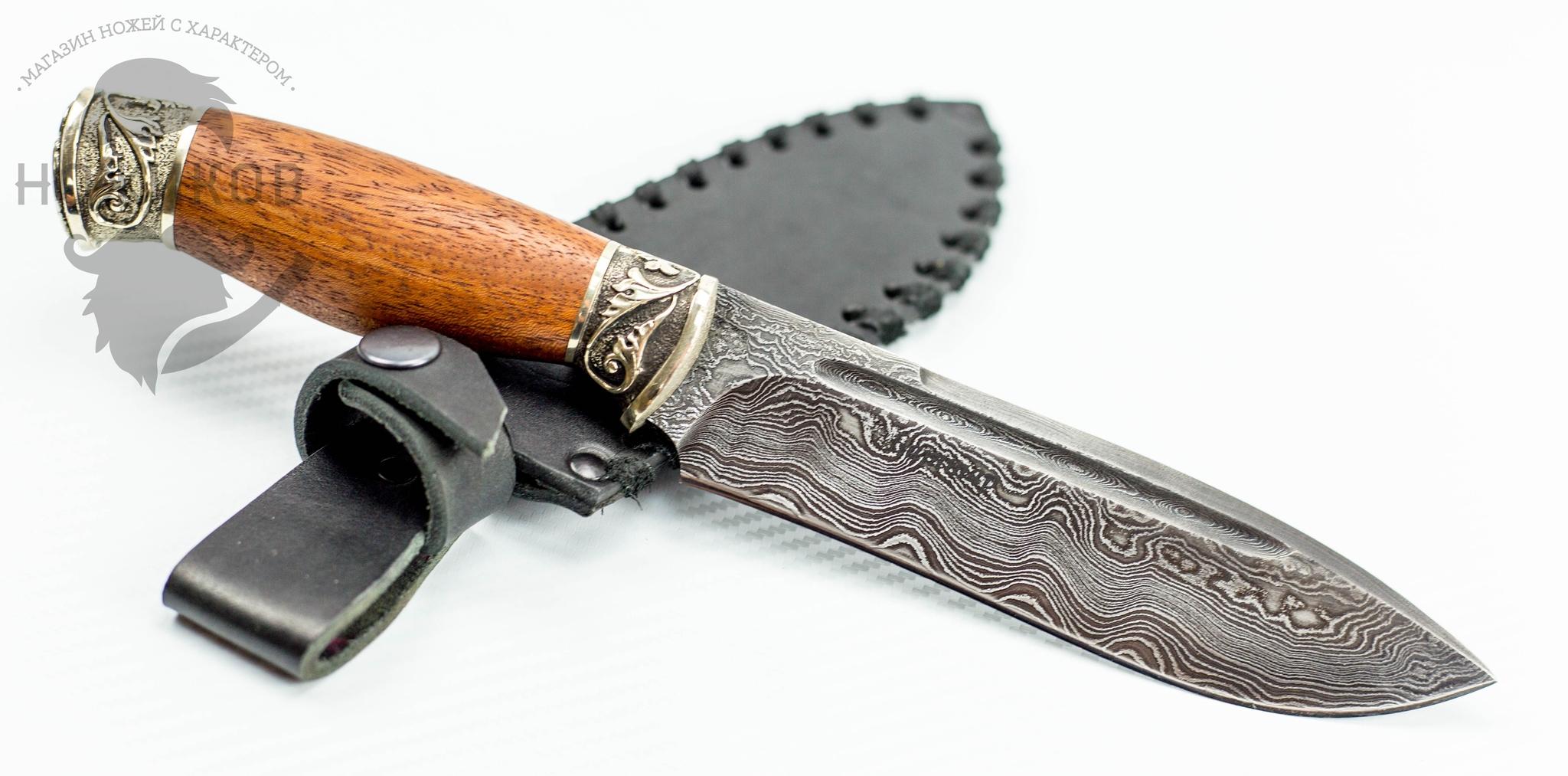 Фото 4 - Авторский Нож из Дамаска №56, Кизляр