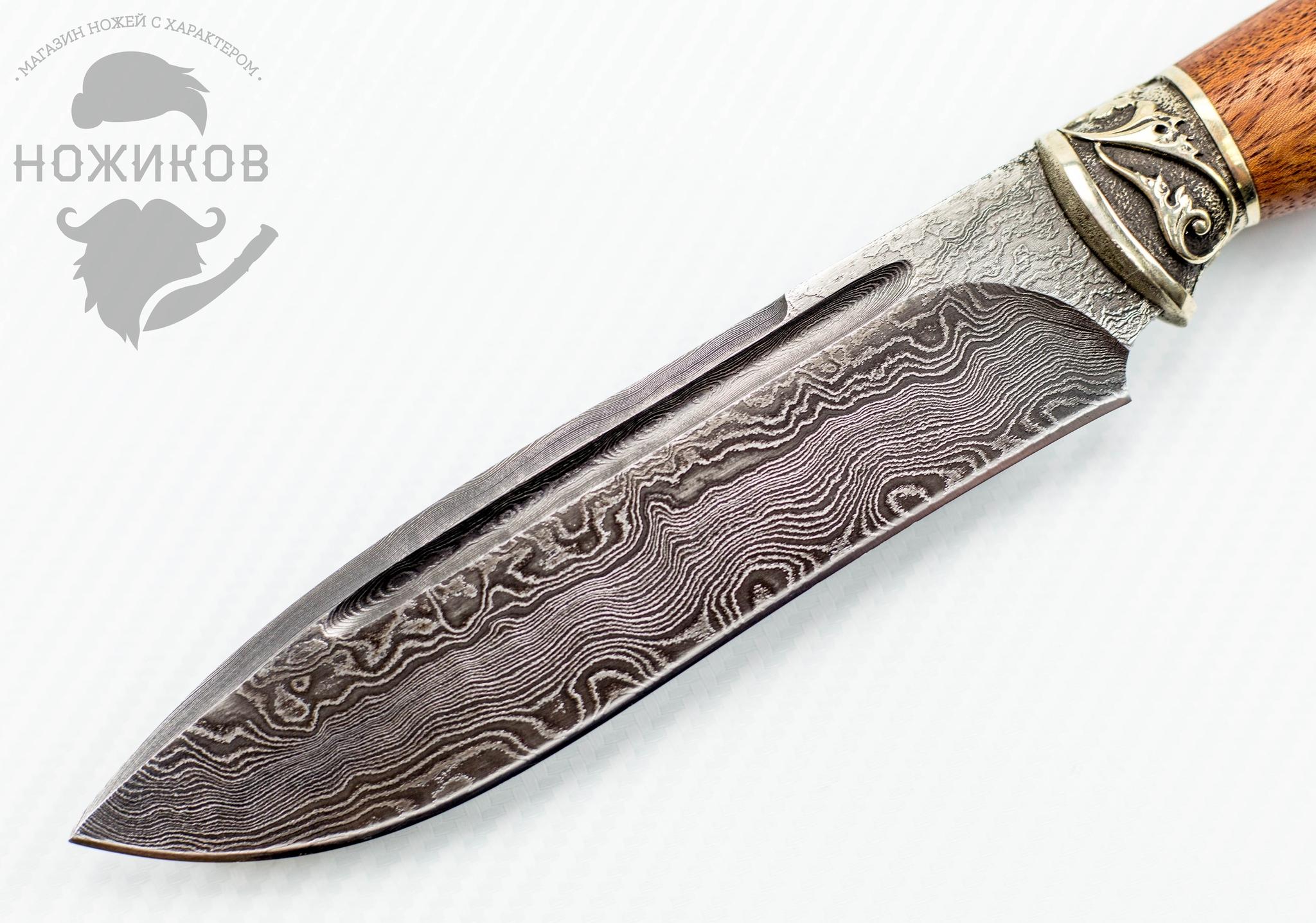 Фото 2 - Авторский Нож из Дамаска №56, Кизляр