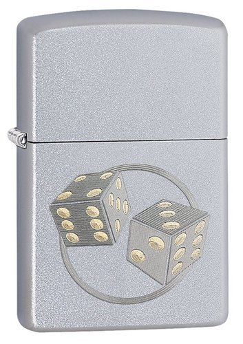 Зажигалка ZIPPO Classic с покрытием Satin Chrome™, латунь/сталь, серебристая, матовая, 36x12x56 мм зажигалка zippo rolling stones с покрытием satin chrome™ латунь сталь серебристая 36x12x56 мм