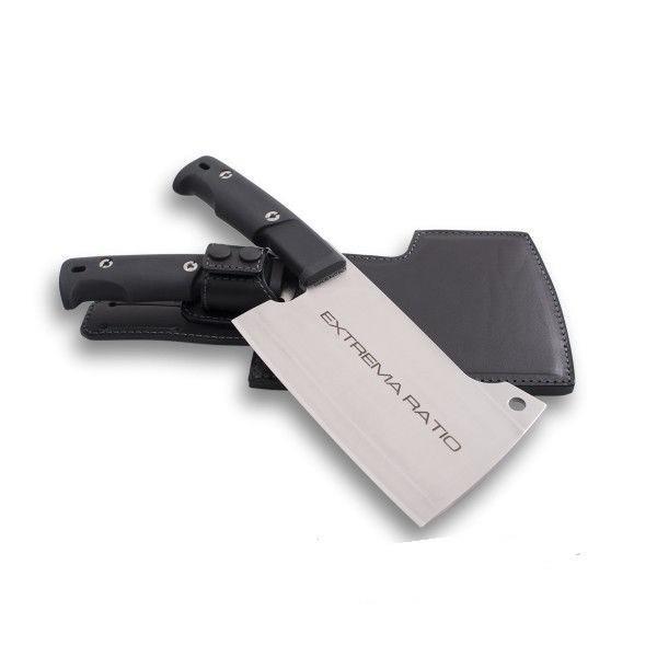 Кухонный топорик Genovese SatinПовару<br>Кухонный топорик Genovese Satin, клинок сатин, сталь N690(58HRC), рукоять черный forprene, чехол кожа.<br>