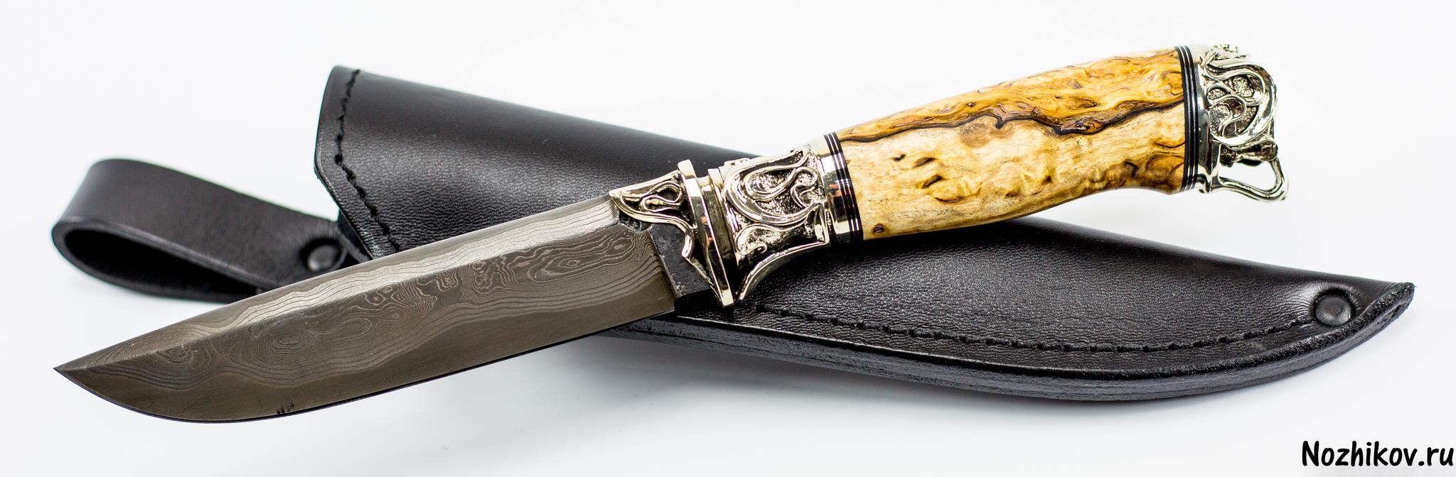 Нож Подарочный №52 из Ламината с никелем, от ПриказчиковаНожи Павлово<br><br>
