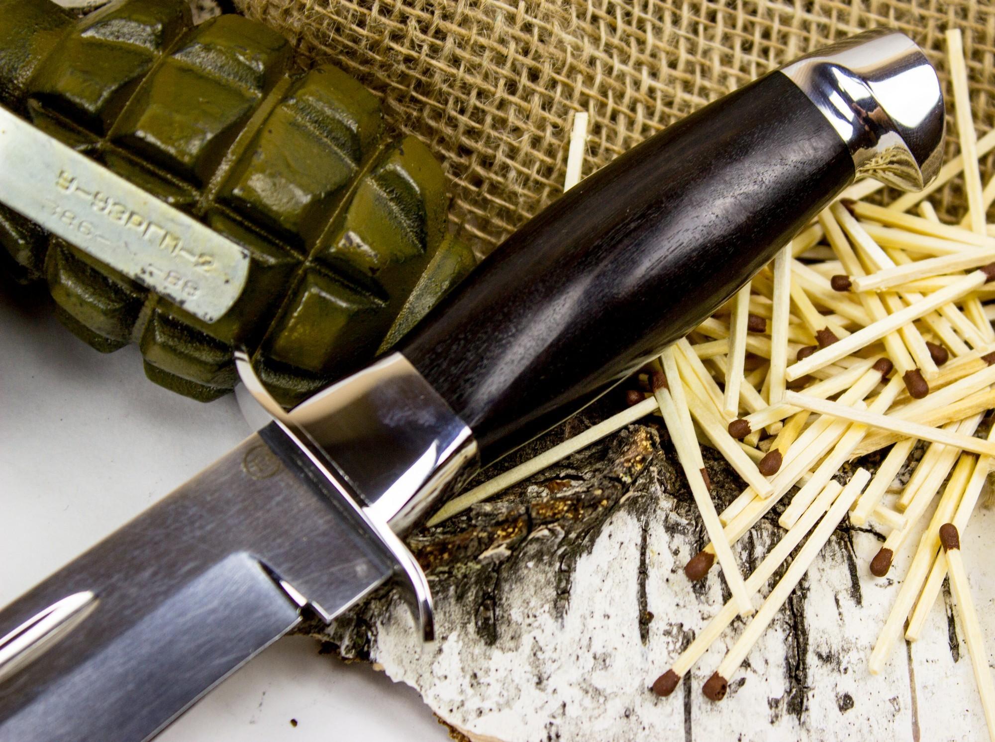 Фото 4 - Нож Макс, сталь 95х18, граб от Титов и Солдатова
