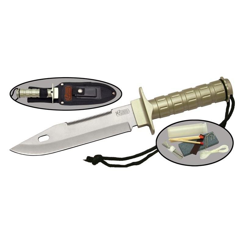 Нож для выживания HR130Viking Nordway<br>Oбщая длина - 255 мм<br>Длина клинка - 140 мм<br>Сталь - 420<br>Рукоять - алюминий<br>Чехол- кордура<br>