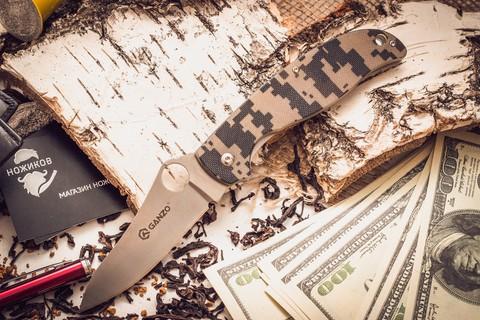 Складной нож Ganzo G734, камуфляж - Nozhikov.ru
