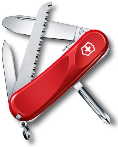Нож перочинный Victorinox Junior 09 2.4213.SKE 85мм 8 функций красный - Nozhikov.ru