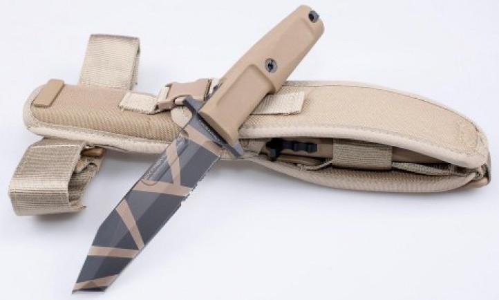 Нож с фиксированным клинком Fulcrum S, Desert Warfare, Plain Edge