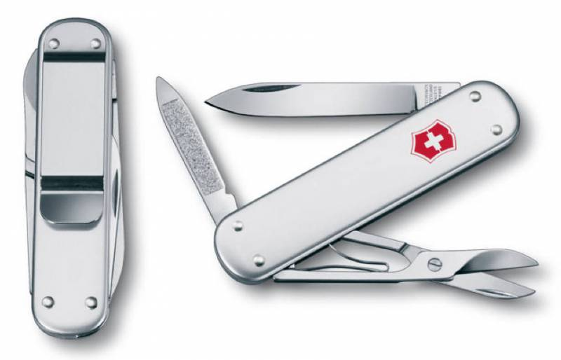Нож перочинный Victorinox Money Clip 0.6540.16 74мм 5 функций серебристый edcgear abs double sides slim money clip card holder