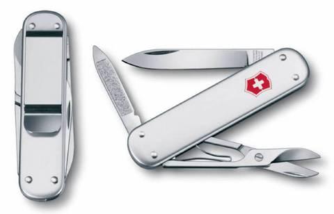 Нож перочинный Victorinox Money Clip 0.6540.16 74мм 5 функций серебристый - Nozhikov.ru