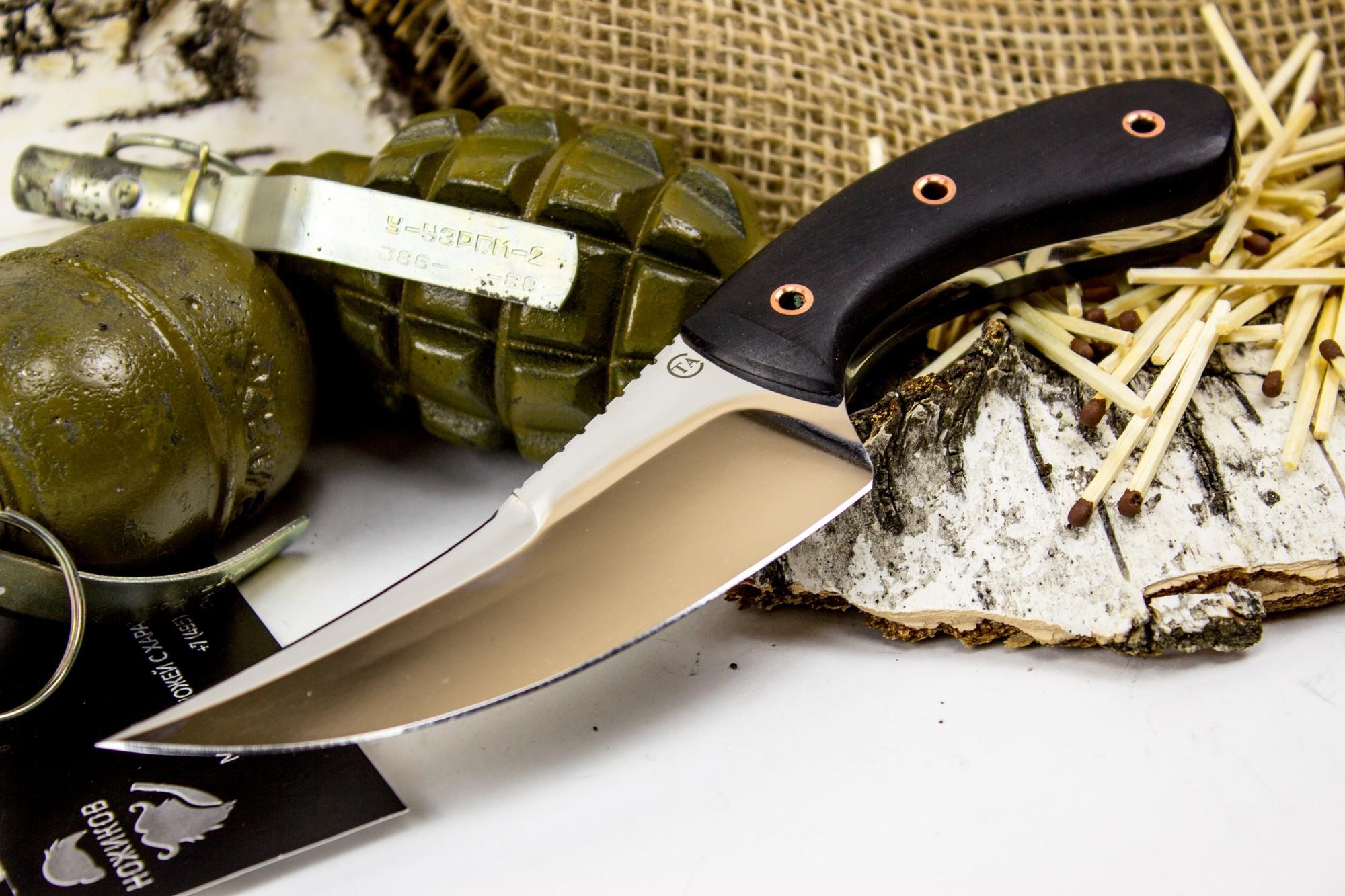 Фото 2 - Нож Клык-1, сталь 95х18, дерево от Титов и Солдатова