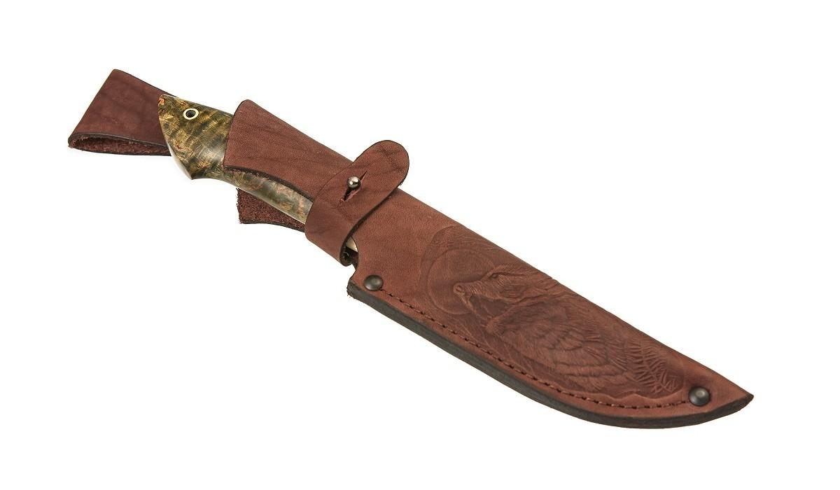 Фото 4 - Нож Турист-2, сталь K340, вставка кость от Мастерская Сковородихина