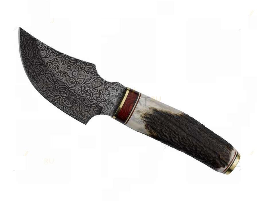 Нож с фиксированным клинком Africa DamascusОхотнику<br>Нож с фиксированным клинком Africa Damascus<br>